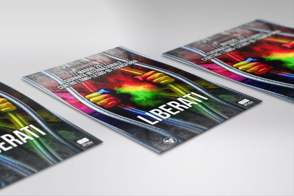 Mock up città di torino Flyer Poster A5 Copia