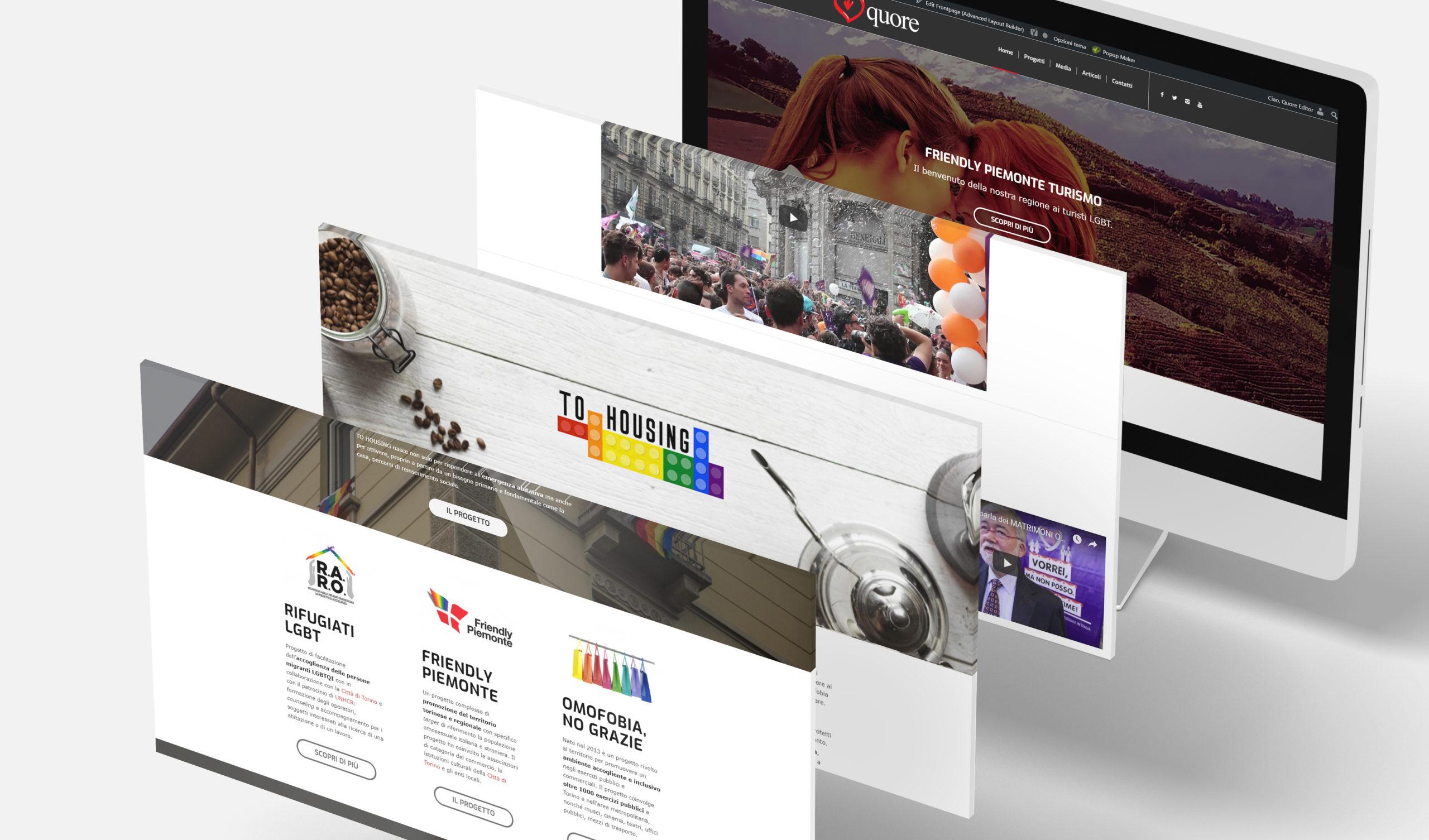 Restyling del sito web per l'associazione Quore