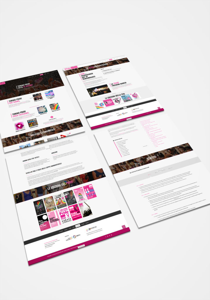 Torino Pride IT Mockup Perspective Website