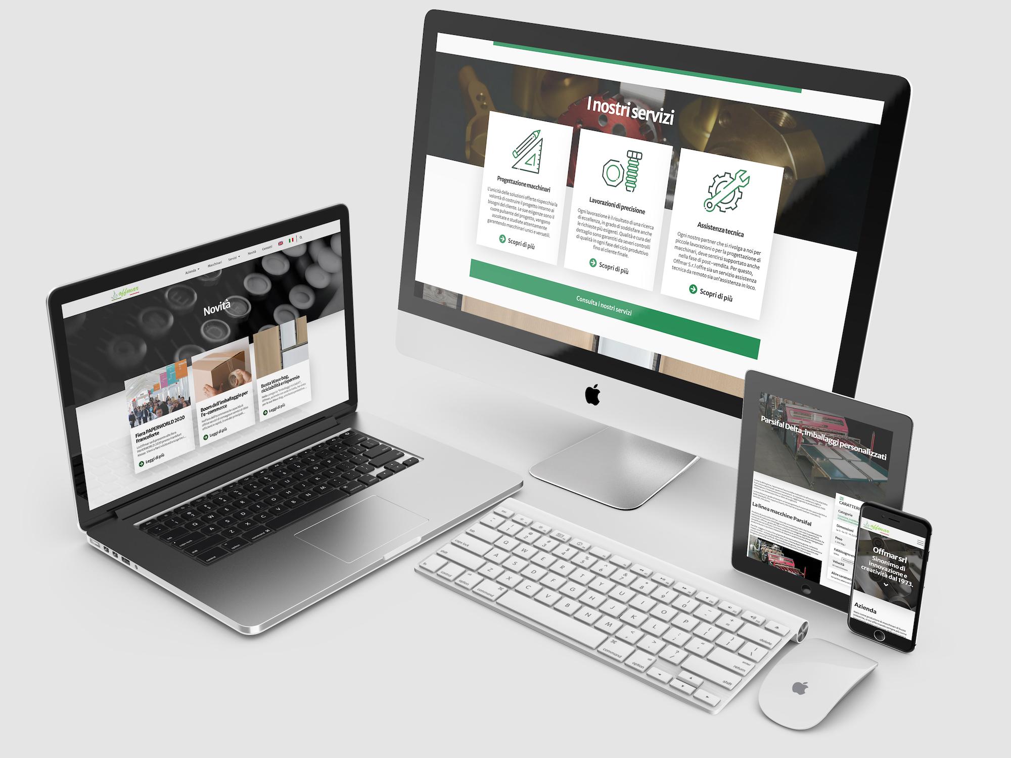 Multi screeens Website Offmar srl Luca Minici Graphic Design
